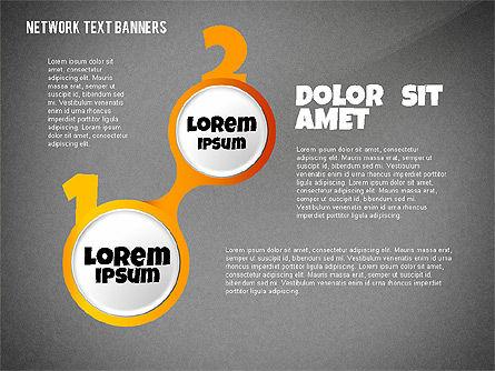 Network Text Banners, Slide 15, 02596, Text Boxes — PoweredTemplate.com