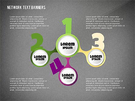 Network Text Banners, Slide 16, 02596, Text Boxes — PoweredTemplate.com