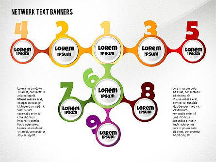 Network Text Banners, Slide 6, 02596, Text Boxes — PoweredTemplate.com