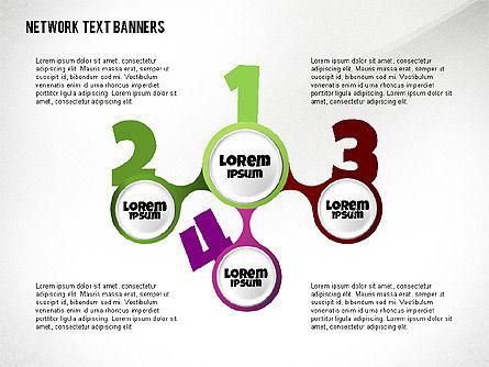Network Text Banners, Slide 8, 02596, Text Boxes — PoweredTemplate.com