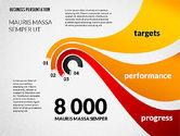 Presentation Templates: Modèle de présentation des progrès de l'entreprise #02597