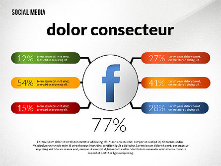Social Media Infographics Template Slide 3