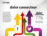 Infographics: Social Media Infographics Template #02598