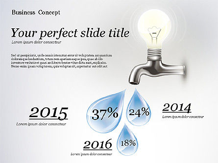 Water and Energy Efficiency Presentation Template, 02601, Presentation Templates — PoweredTemplate.com