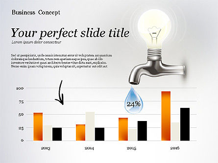 Water and Energy Efficiency Presentation Template, Slide 4, 02601, Presentation Templates — PoweredTemplate.com
