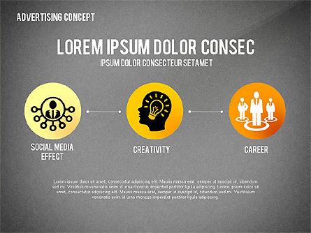 Advertising Process Concept Diagram, Slide 10, 02602, Process Diagrams — PoweredTemplate.com