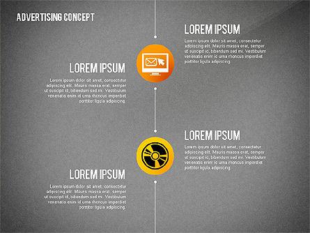 Advertising Process Concept Diagram, Slide 12, 02602, Process Diagrams — PoweredTemplate.com