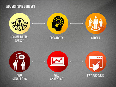 Advertising Process Concept Diagram, Slide 14, 02602, Process Diagrams — PoweredTemplate.com