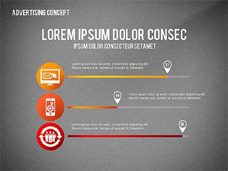 Advertising Process Concept Diagram, Slide 15, 02602, Process Diagrams — PoweredTemplate.com