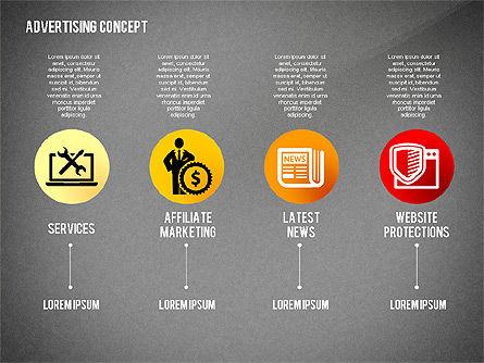 Advertising Process Concept Diagram, Slide 16, 02602, Process Diagrams — PoweredTemplate.com
