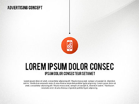 Advertising Process Concept Diagram, Slide 5, 02602, Process Diagrams — PoweredTemplate.com