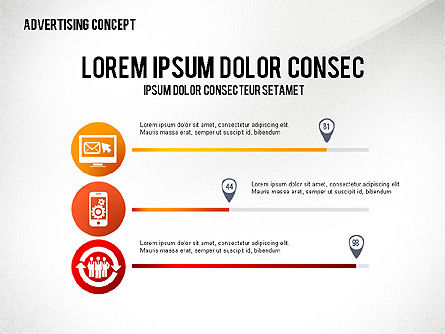 Advertising Process Concept Diagram, Slide 7, 02602, Process Diagrams — PoweredTemplate.com