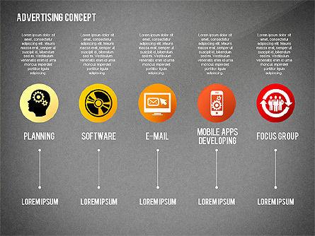 Advertising Process Concept Diagram, Slide 9, 02602, Process Diagrams — PoweredTemplate.com