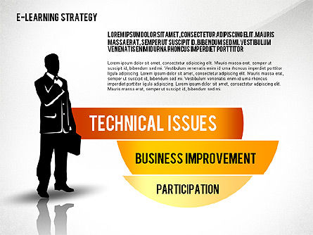 E-learning Strategy Diagram, Slide 6, 02603, Stage Diagrams — PoweredTemplate.com