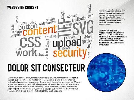 Webdesign Word Cloud Presentation Template, Slide 6, 02605, Presentation Templates — PoweredTemplate.com
