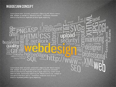 Webdesign Word Cloud Presentation Template, Slide 9, 02605, Presentation Templates — PoweredTemplate.com