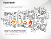 Presentation Templates: Webdesign Word Cloud Presentation Template #02605