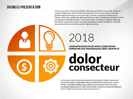 Financial Presentation with Shapes, Slide 3, 02607, Presentation Templates — PoweredTemplate.com
