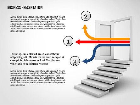 Opportunity Door Presentation Template, Slide 3, 02610, Presentation Templates — PoweredTemplate.com