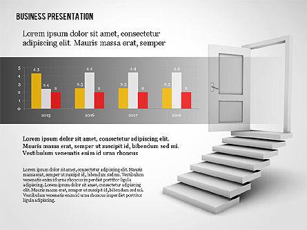 Opportunity Door Presentation Template, Slide 4, 02610, Presentation Templates — PoweredTemplate.com