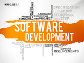 Business Models: Software Development Word Cloud Presentation Template #02611