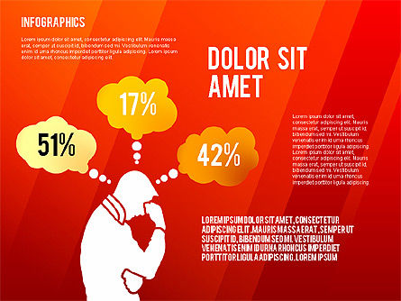 Infographics with Silhouettes, Slide 10, 02612, Infographics — PoweredTemplate.com