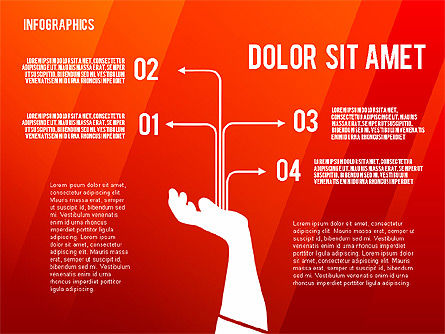 Infographics with Silhouettes, Slide 12, 02612, Infographics — PoweredTemplate.com