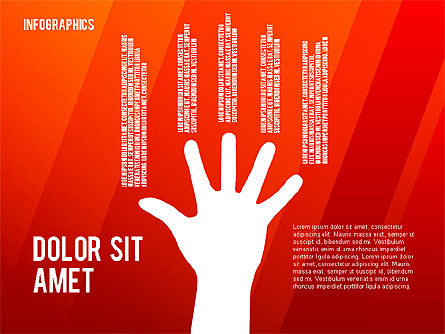 Infographics with Silhouettes, Slide 16, 02612, Infographics — PoweredTemplate.com