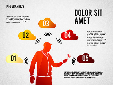 Infographics with Silhouettes, Slide 5, 02612, Infographics — PoweredTemplate.com