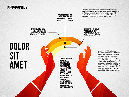 Infographics with Silhouettes, Slide 7, 02612, Infographics — PoweredTemplate.com