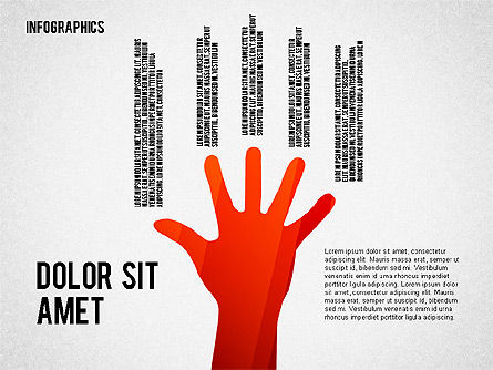 Infographics with Silhouettes, Slide 8, 02612, Infographics — PoweredTemplate.com