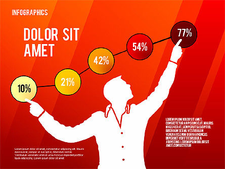 Infographics with Silhouettes, Slide 9, 02612, Infographics — PoweredTemplate.com