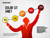 Infographics: Infographics with Silhouettes #02612
