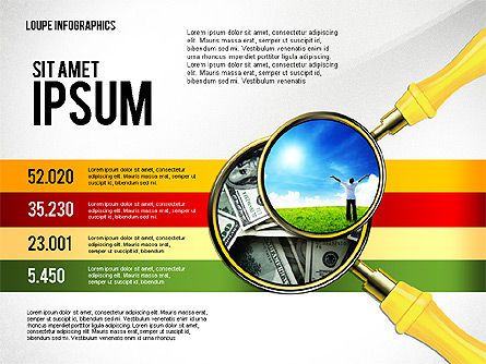Infographics with Loupe, 02613, Infographics — PoweredTemplate.com
