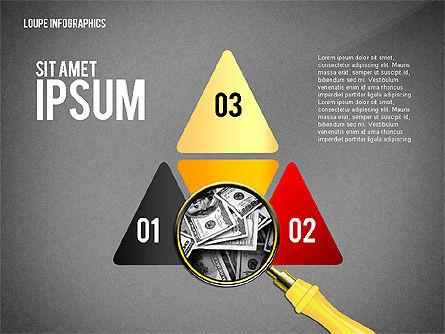Infographics with Loupe, Slide 13, 02613, Infographics — PoweredTemplate.com