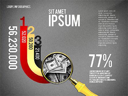 Infographics with Loupe, Slide 16, 02613, Infographics — PoweredTemplate.com