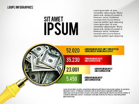 Infographics with Loupe, Slide 3, 02613, Infographics — PoweredTemplate.com