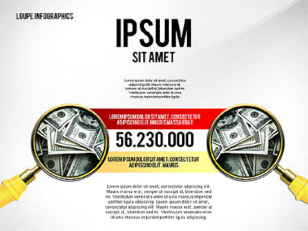 Infographics with Loupe, Slide 4, 02613, Infographics — PoweredTemplate.com