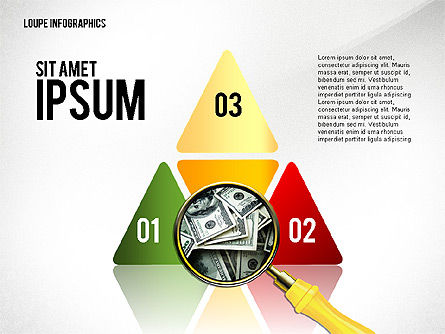 Infographics with Loupe, Slide 5, 02613, Infographics — PoweredTemplate.com