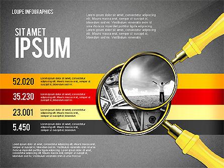 Infographics with Loupe, Slide 9, 02613, Infographics — PoweredTemplate.com