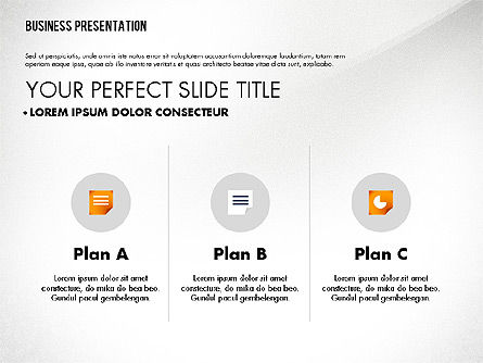 Graceful Presentation Template, 02615, Presentation Templates — PoweredTemplate.com