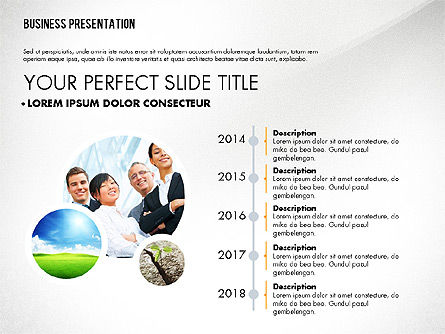Graceful Presentation Template, Slide 2, 02615, Presentation Templates — PoweredTemplate.com