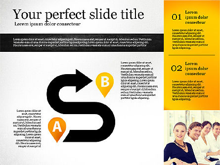 Presentation Template with Shapes, Slide 2, 02618, Presentation Templates — PoweredTemplate.com