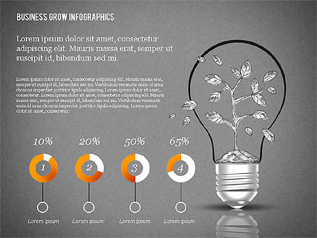 Business Growth Concept Presentation Template , Slide 16, 02620, Presentation Templates — PoweredTemplate.com