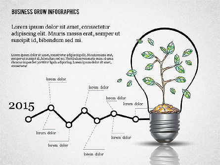 Business Growth Concept Presentation Template , Slide 5, 02620, Presentation Templates — PoweredTemplate.com