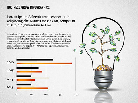 Business Growth Concept Presentation Template , Slide 6, 02620, Presentation Templates — PoweredTemplate.com