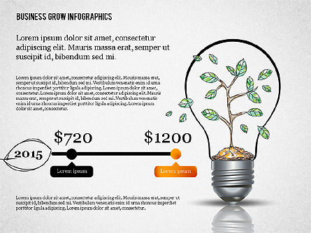 Business Growth Concept Presentation Template , Slide 7, 02620, Presentation Templates — PoweredTemplate.com