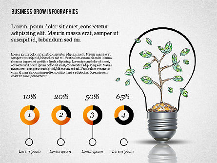 Business Growth Concept Presentation Template , Slide 8, 02620, Presentation Templates — PoweredTemplate.com
