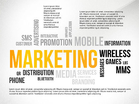 Presentation Templates: Marketing Word Cloud Presentation Template #02623