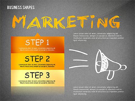Marketing Steps Strategy Presentation Template, Slide 9, 02625, Presentation Templates — PoweredTemplate.com